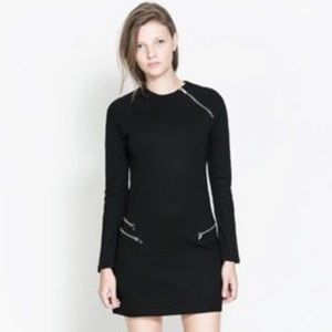 Zara Black Zippered Dress